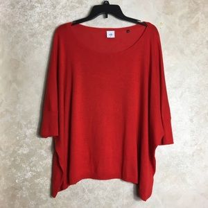 Cabi Size XL Red Sweater Oversized
